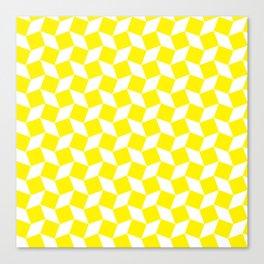 Yellow Op Art Pattern Canvas Print