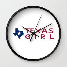 Texas Girl Wall Clock