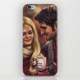 Hot Chocolate In Autumn iPhone Skin
