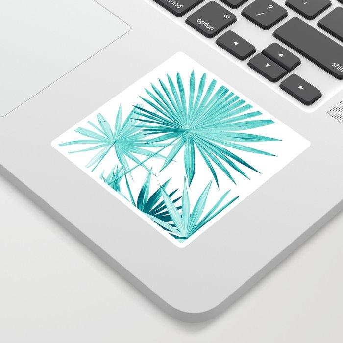 Fan Palm Leaves Jungle #3 #tropical #decor #art #society6 Sticker