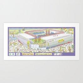 Pantanal Soccer Arena, Cuiabá, Mato Grosso, Brazil Art Print