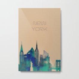 New York skyline decor Metal Print