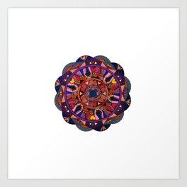Watch Over My Heart Mandala Art Print
