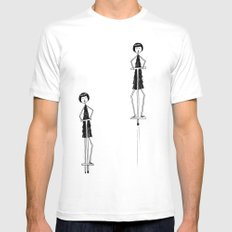 Unlike Eloise, Ramona had mastered the pogo stick. SMALL White Mens Fitted Tee