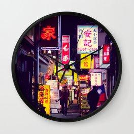 Shinjuku alley 2 Wall Clock