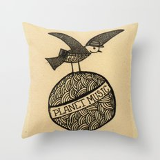 planet music Throw Pillow