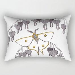 Moth + Bleeding Heart Rectangular Pillow