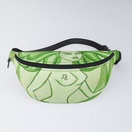 Leo Zodiac Mermaid Fantasy Art Astrology by Laurie Leigh Fanny Pack