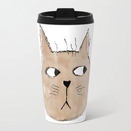 Grumpy brown cat Travel Mug