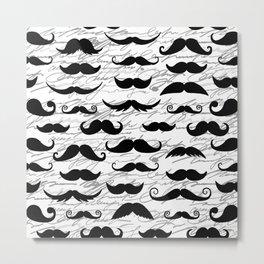 Hipster Mustache Metal Print