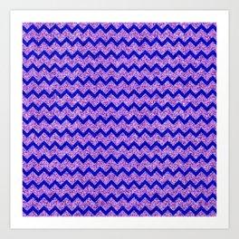 Chevron Glitter Pattern 07 Art Print