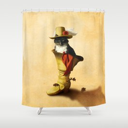 Little Puss in Boots Shower Curtain