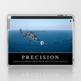 Precision: Inspirational Quote and Motivational Poster Laptop & iPad Skin