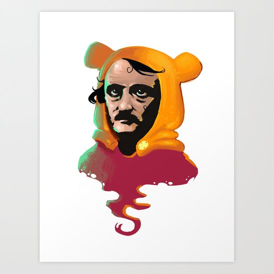 Edgar Allan Pooh Art Print