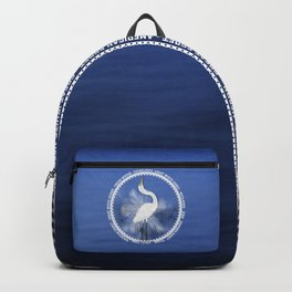 Great Egret Wreath Backpack