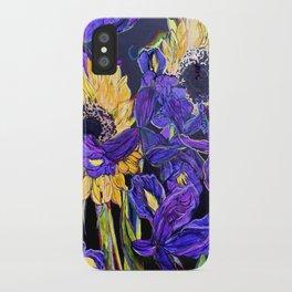 Sunflower & Iris iPhone Case