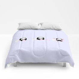 kawaii no face Comforters