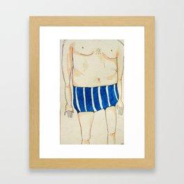 my swimming sensation Framed Art Print
