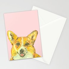 Corgi, printed from an original painting by Jiri Bures Stationery Cards