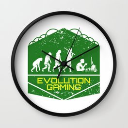 Video Gaming Evolution Wall Clock
