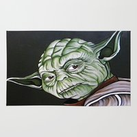 yoda Area & Throw Rugs featuring Yoda by Laura-A
