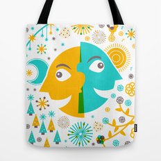 Day and Night, Winter and Summer Tote Bag