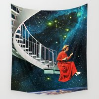 eugenia loli Wall Tapestries featuring Nail-Biting Edge by Eugenia Loli