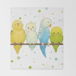 The Budgie Bunch Throw Blanket