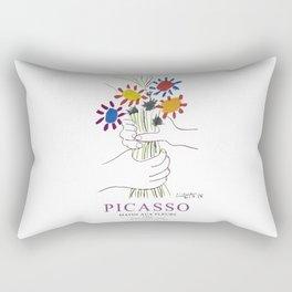 Picasso Exhibition - Mains Aus Fleurs (Hands with Flowers) 1958 Artwork Rectangular Pillow