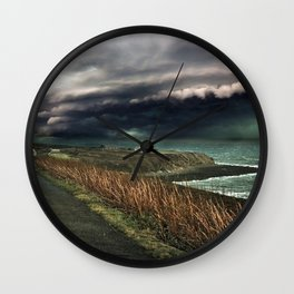 Storm on the Coast Wall Clock