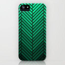 Parquet All Day - Black & Verde iPhone Case