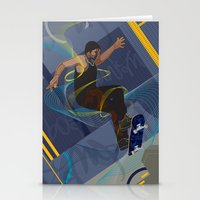 skateboard Stationery Cards featuring Project Skateboard by Martin Orme