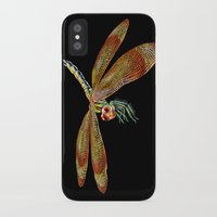dragonfly iPhone & iPod Cases featuring Dragonfly by Tim Jeffs Art