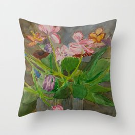 Felicity House Arrangement Throw Pillow