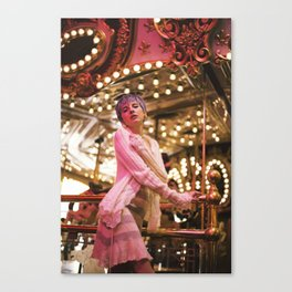 At the carousel Canvas Print
