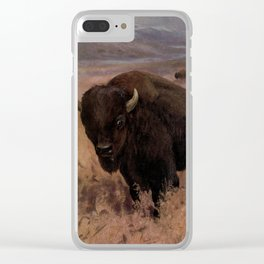 Vintage American Buffalo Painting (1909) Clear iPhone Case