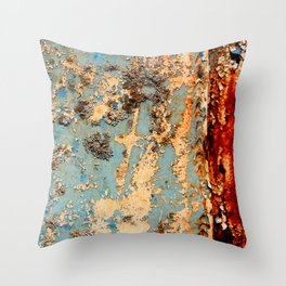 Rusted Train Throw Pillow