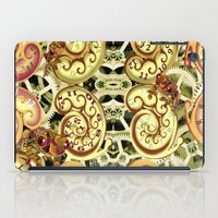 clockwork iPad Cases featuring Clockwork. by Sylvie Heasman