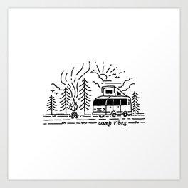 Camp Vibes Art Print