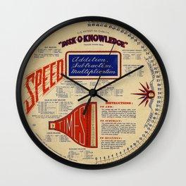 Mathematical Speed Disk Wall Clock