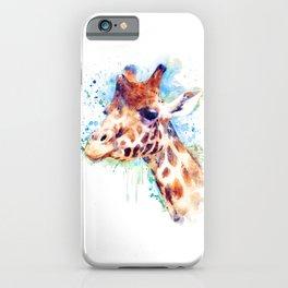 Giraffe Watercolor Portrait iPhone Case