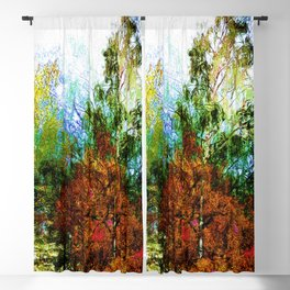 Colorful Birches Blackout Curtain