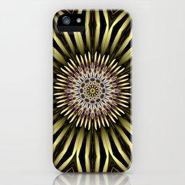 Hypnotic flower iPhone Case