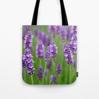 lavender Tote Bags featuring lavender by GISMANA