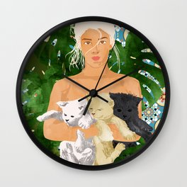 Morocco Vacay #illustration #painting Wall Clock