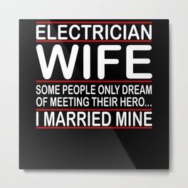 Electrician Woman Wedding Metal Print