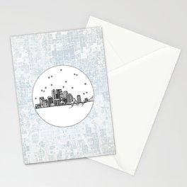 Minneapolis, Minnesota City Skyline Illustration Drawing Stationery Cards