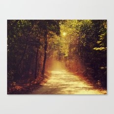 Dusty road Canvas Print
