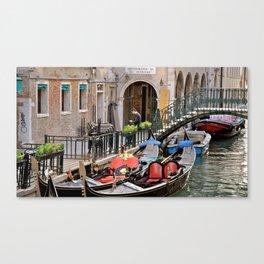 Gondolas at Rest Canvas Print