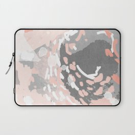Penny - millennium pink and grey abstract canvas large art decor dorm college nursery Laptop Sleeve